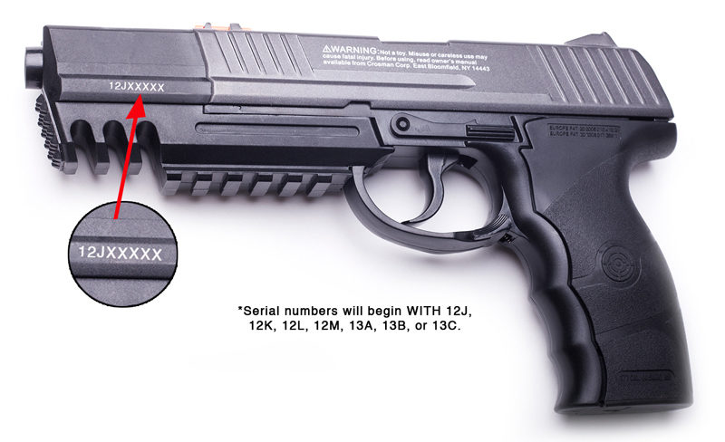 Recalled Crosman C21 model air pistol.